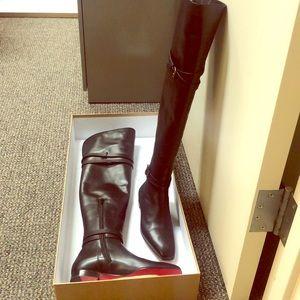 Christian Louboutin black boots - new